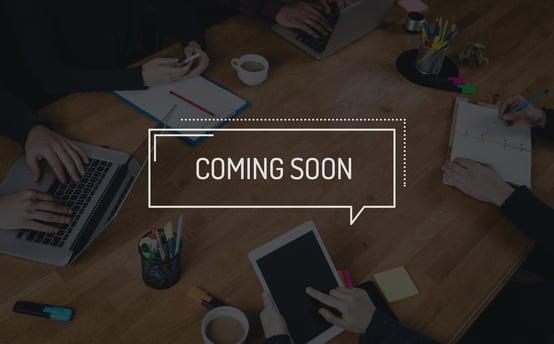 coming soon - webinars